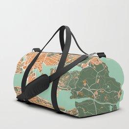 Stockholm city map orange Duffle Bag
