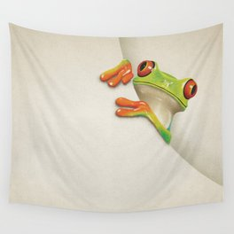 Little Red Eyed Tree Frog Wall Tapestry