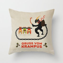 Gruss vom Krampus Throw Pillow