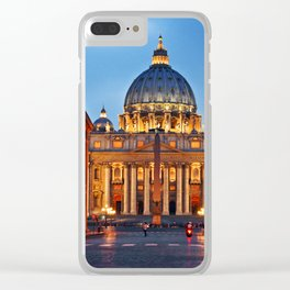 SAINT PETER'S CATHEDRALE in ROME Clear iPhone Case