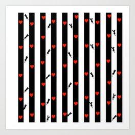 Valentine pattern,Valentine scrapbook,Valentine background,Valentine Digital Papers,Heart Digital Pa Art Print