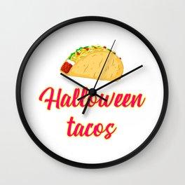Halloween Tacos Fiesta Motivational Design Wall Clock
