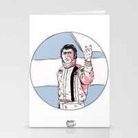 steve mcqueen Stationery Cards featuring McQueen by Dave Zissou