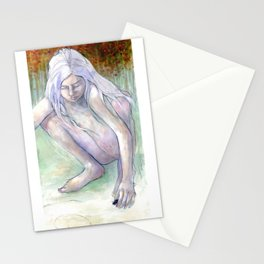 Spiral Girl Stationery Cards