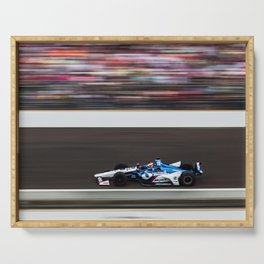 Rahal running in the INDY 500 Serving Tray
