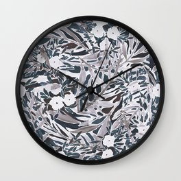 Topical Daydream Deep Natural Wall Clock