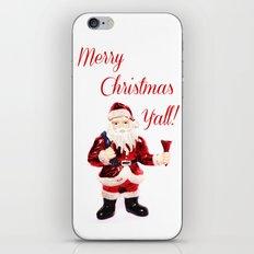 Merry Christmas Y'all Santa iPhone & iPod Skin