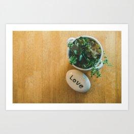 Organic Love Art Print