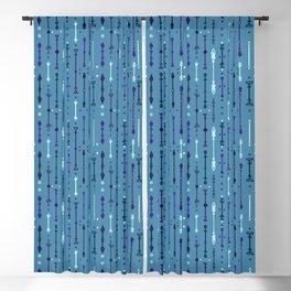 Scandi-Sticks B - Vertical - Sky Blackout Curtain