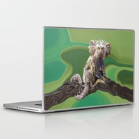 psychadelic Laptop & iPad Skins featuring Melanie's Marmoset by Distortion Art