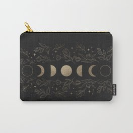 Gold Moon Phases Carry-All Pouch