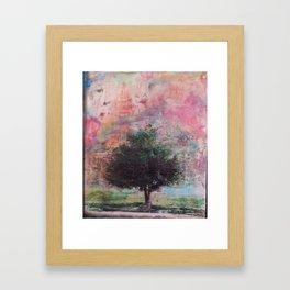 Beautiful tree on a Sailor Take Warning morning Framed Art Print
