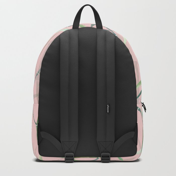 Bamboo Forest Pink Backpack