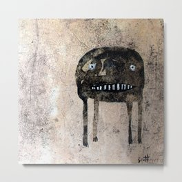 Anxious Monster Metal Print