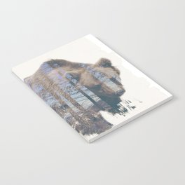 Bear and tree double exposure Notebook