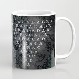 Abracadabra Reversed Pyramid in Charcoal Black Coffee Mug