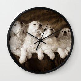 Cute labrador puppies Wall Clock