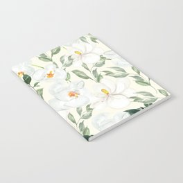 Magnolia and Orchid Blossoms Watercolor Notebook