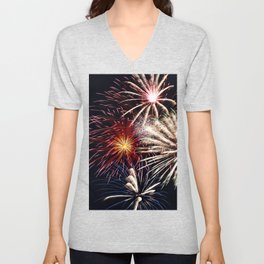 celebration fireworks Unisex V-Neck