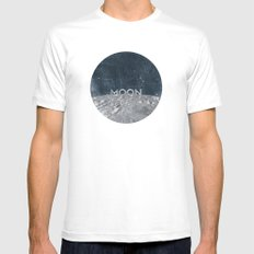 Moon Mens Fitted Tee MEDIUM White