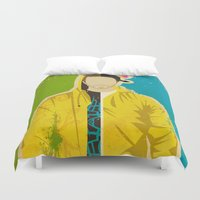 jesse pinkman Duvet Covers featuring Pinkman by Danny Haas