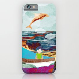 When dolphins are around 10 iPhone Case