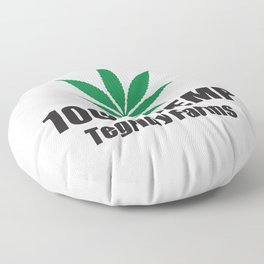 100% Hemp From Tegridy Farms Floor Pillow