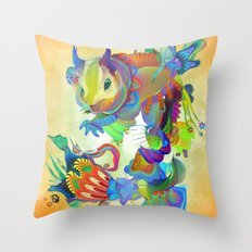 Locus Dahlia Throw Pillow