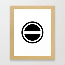Curtis Holt Logo (Black) Framed Art Print