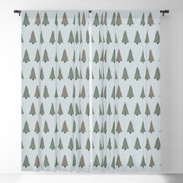 Merry land - Floral Christmas Tree print Blackout Curtain