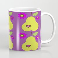 pear Mugs featuring pear by snorkdesign