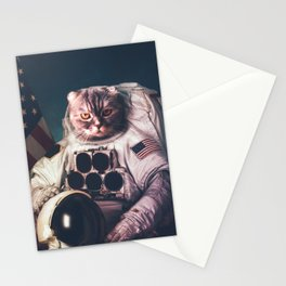 Beautiful cat astronaut Stationery Cards