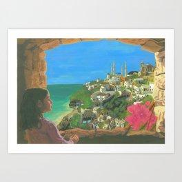 Mediterranean Town Art Print