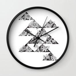 botanical triangles Wall Clock