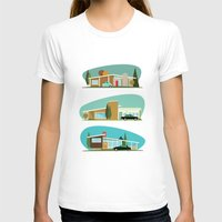 hollywood T-shirts featuring Hollywood Bungalows by Hand Drawn Creative