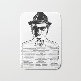 Jake Blues Brothers tattooed 'Four Fried Chickens' Bath Mat
