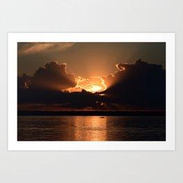 Fisherman Sunset Art Print