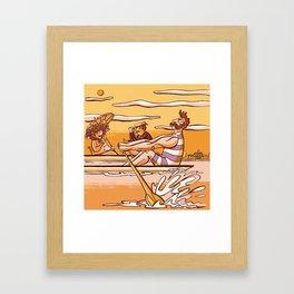 Henley Regatta (March 26th, 1839) Framed Art Print