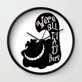 Alice Cheshire Cat Wall Clock