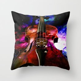 violin nebula Throw Pillow