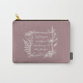 Cast Your Anxiety Wildflower Frame Bible Verse Carry-All Pouch