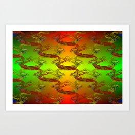 Forbitten light areas ... Art Print