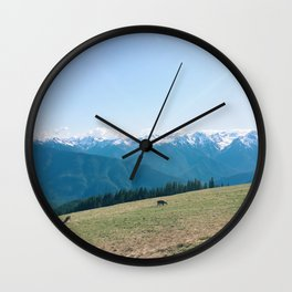Deers on the Mountain Wall Clock
