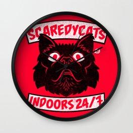 ScaredyCats Wall Clock