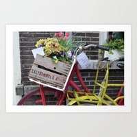 bikes Art Prints featuring Bikes by constarlation