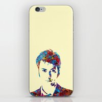 david tennant iPhone & iPod Skins featuring David Tennant - Doctor Who by lauramaahs