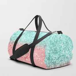 Summer Vibes Glitter #1 #coral #mint #shiny #decor #art #society6 Duffle Bag