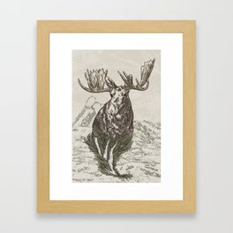Guardian of the Hinterland (moose) Framed Art Print