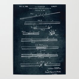 1965 - Two-piece billiard cue Poster