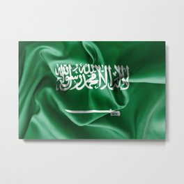 Saudi Arabia Flag Metal Print